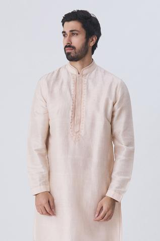 Cotton Silk Kurta Set