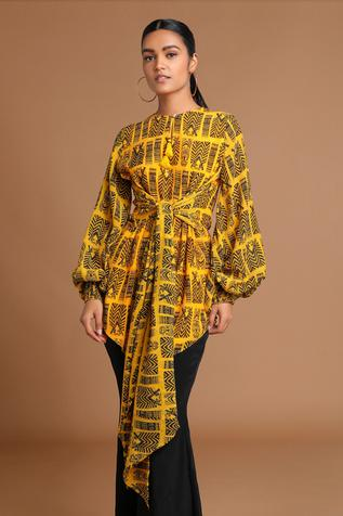 Printed Asymmetric Tunic