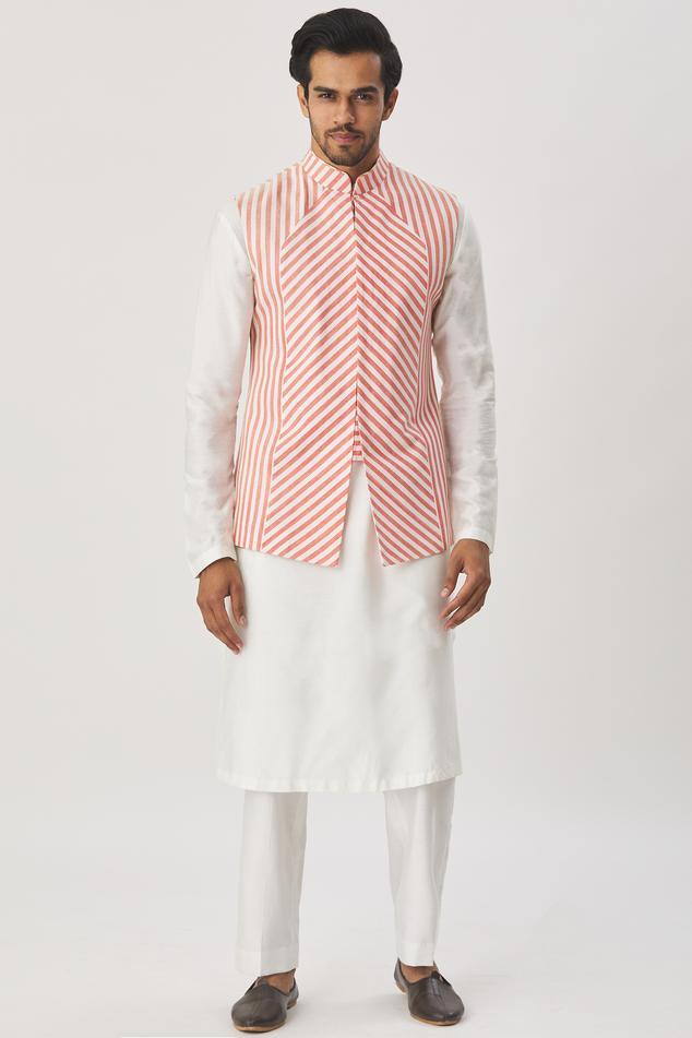Cotton Silk Bundi & Kurta Set