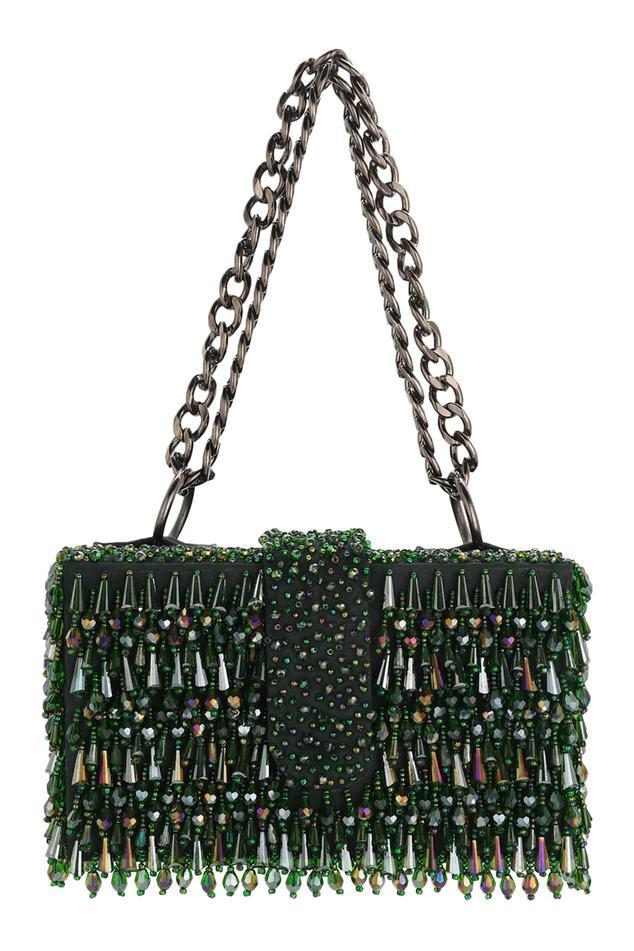 Velvet Flapover Sling Bag