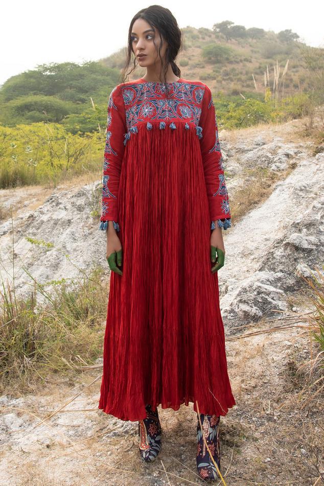 Cotton Silk Maxi Dress