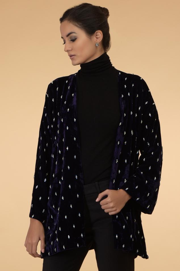 Velvet Embellished Jacket