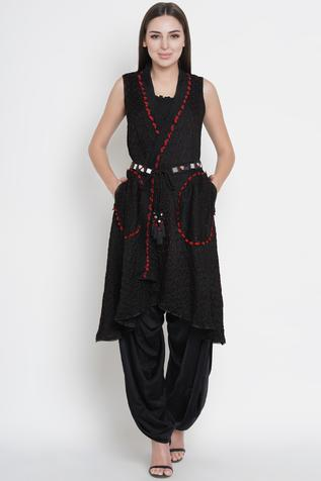 Silk Bandhani Jacket
