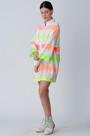 Handloom Cotton Striped Dress