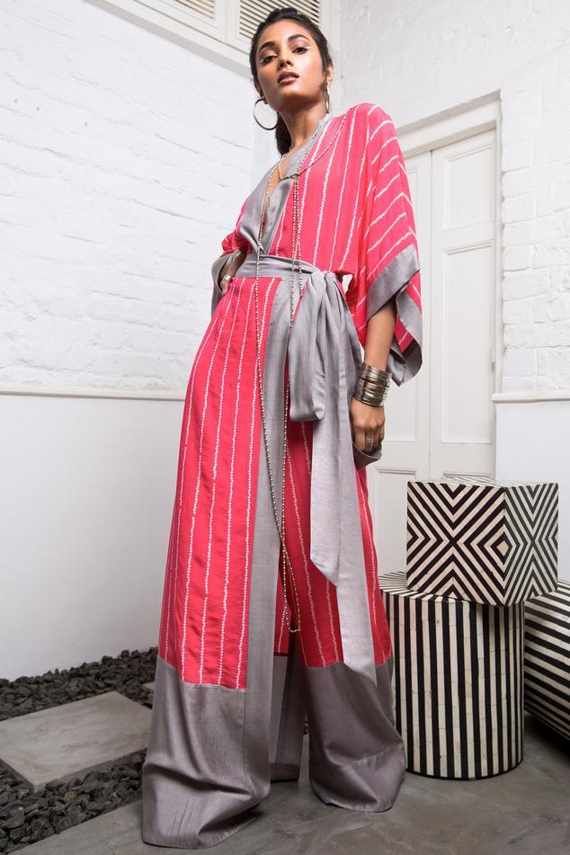 Bandhani Kaftan Jumpsuit