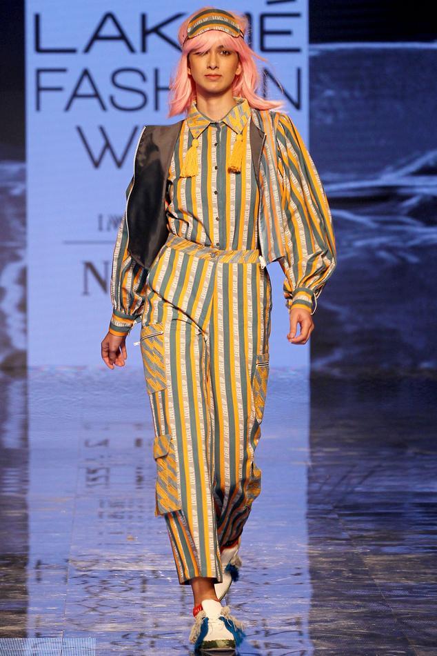 Striped Logo Pants