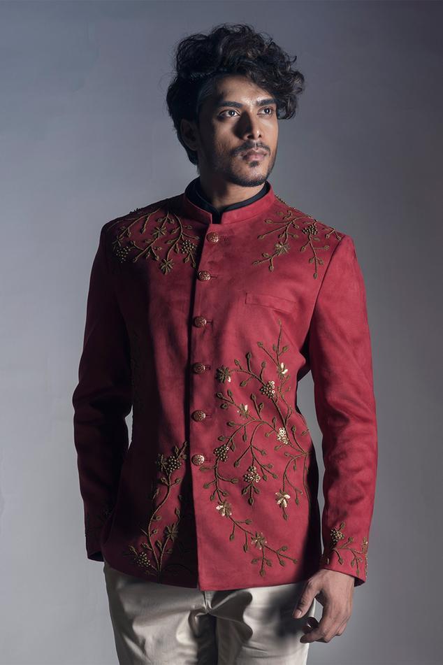 Embroidered Bandhgala & Pant Set
