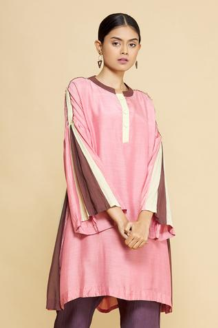 Cotton Silk Tunic with Inner