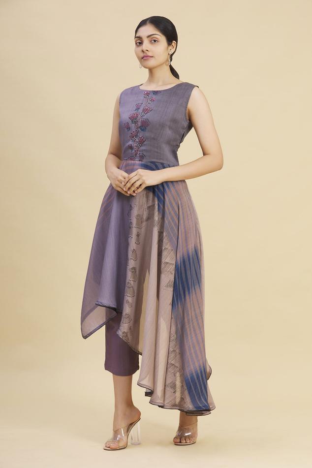 Asymmetric Kurta & Pant Set