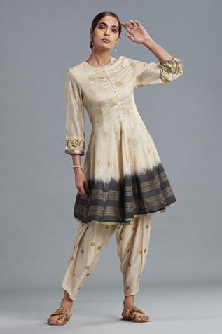 Chanderi Anarkali & Dhoti Pant Set