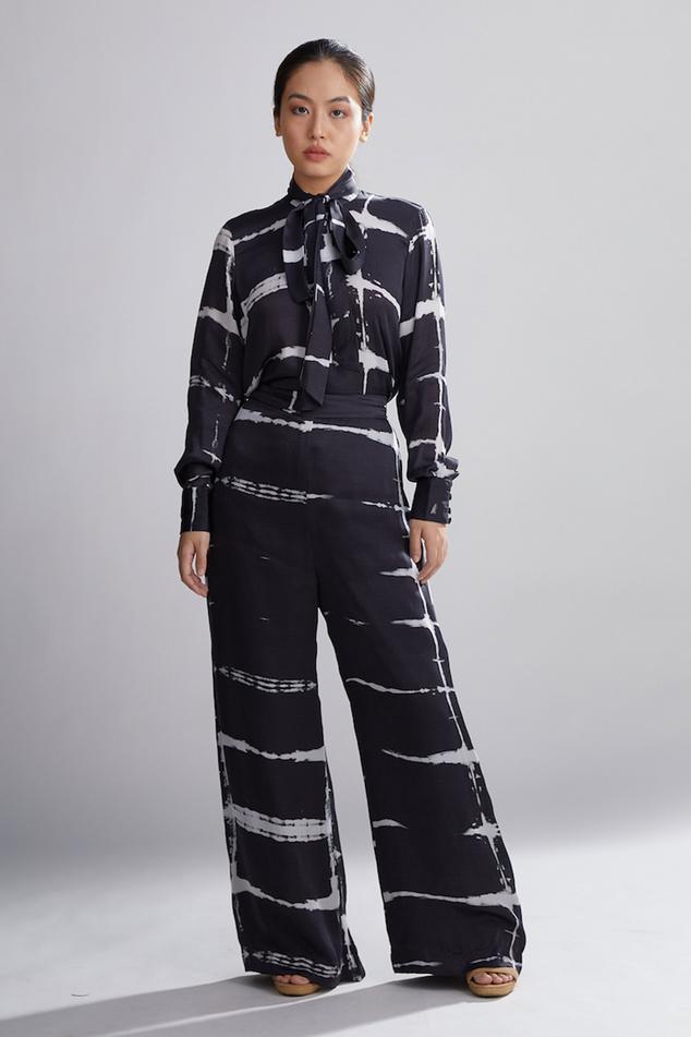 Shibori Silk Pant