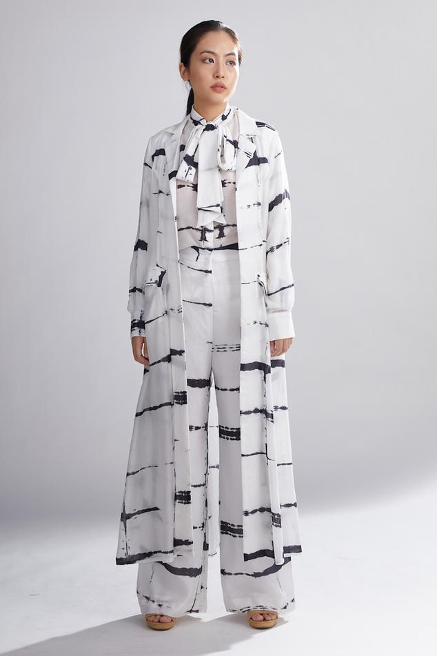 Shibori Long Jacket