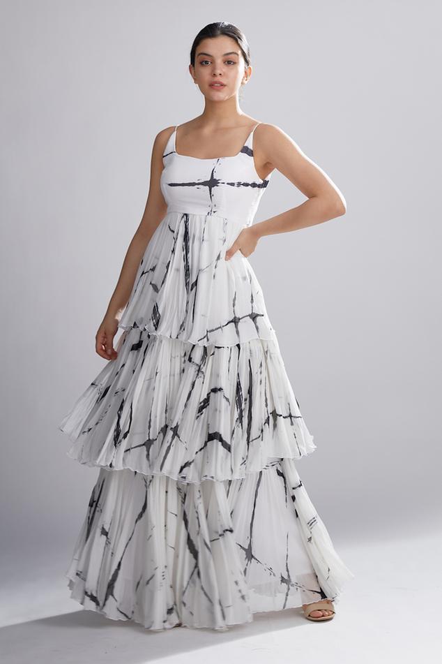 Shibori Layered Maxi Dress