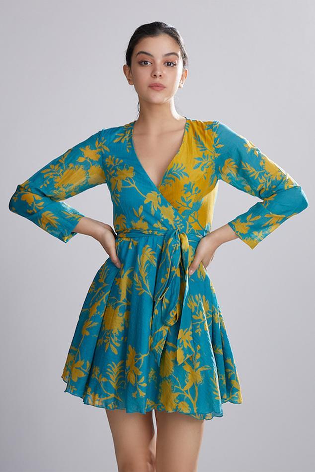 Chanderi Silk Wrap Dress