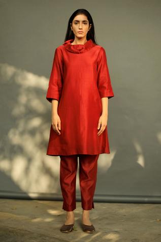 Chanderi Kurta & Pant Set