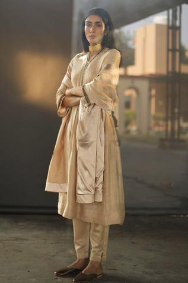 Handloom Silk Kurta & Pant Set