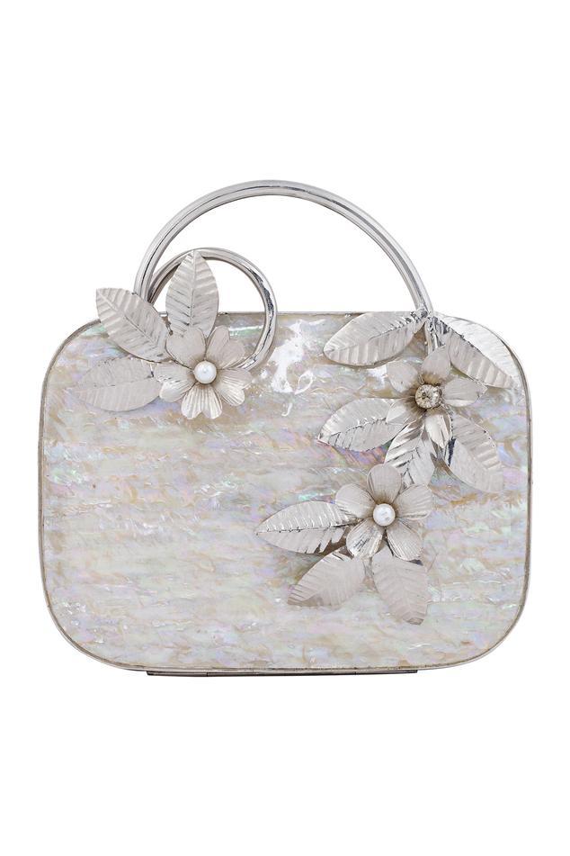 Floral Embellished Box Clutch