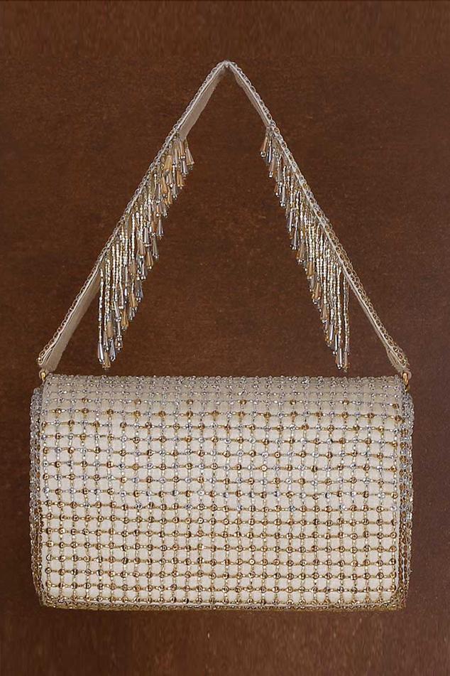 Zoya Crystal Embellished Flapover Clutch