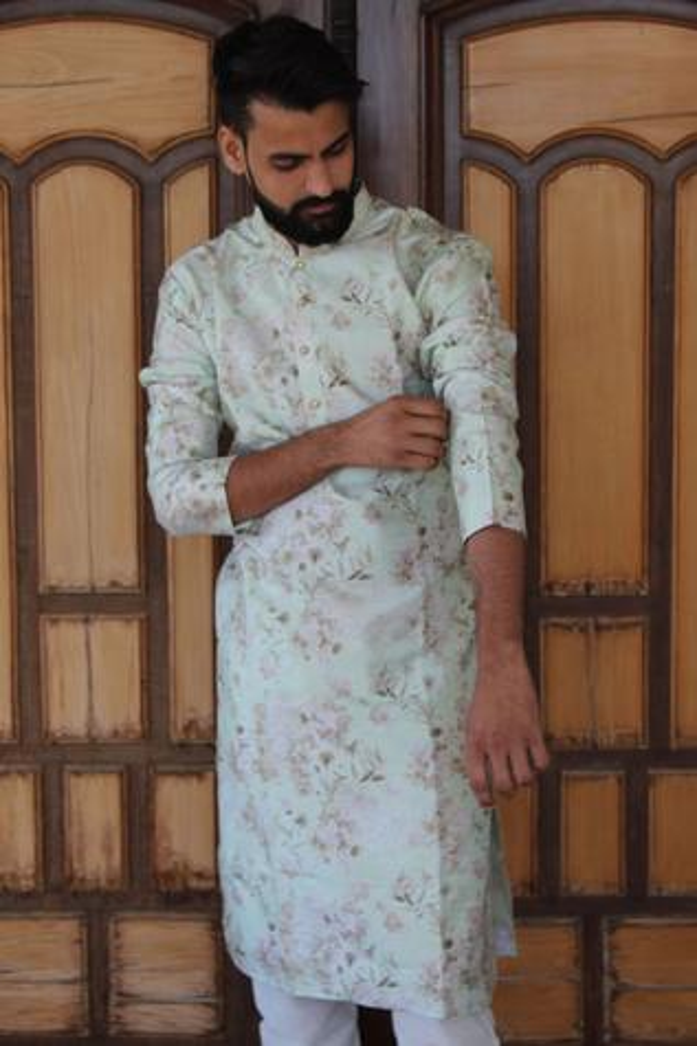 Silk Printed Kurta Set