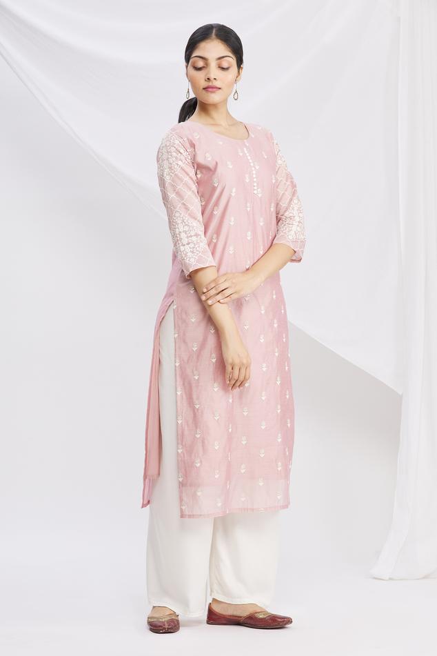 Chanderi Silk Kurta & Pant Set