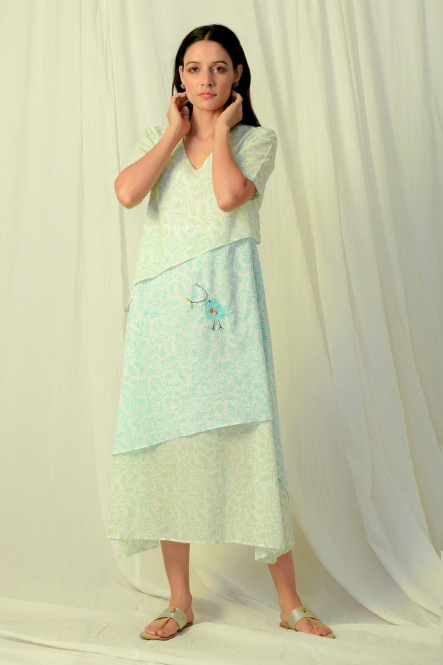 Block Print Layered Dress