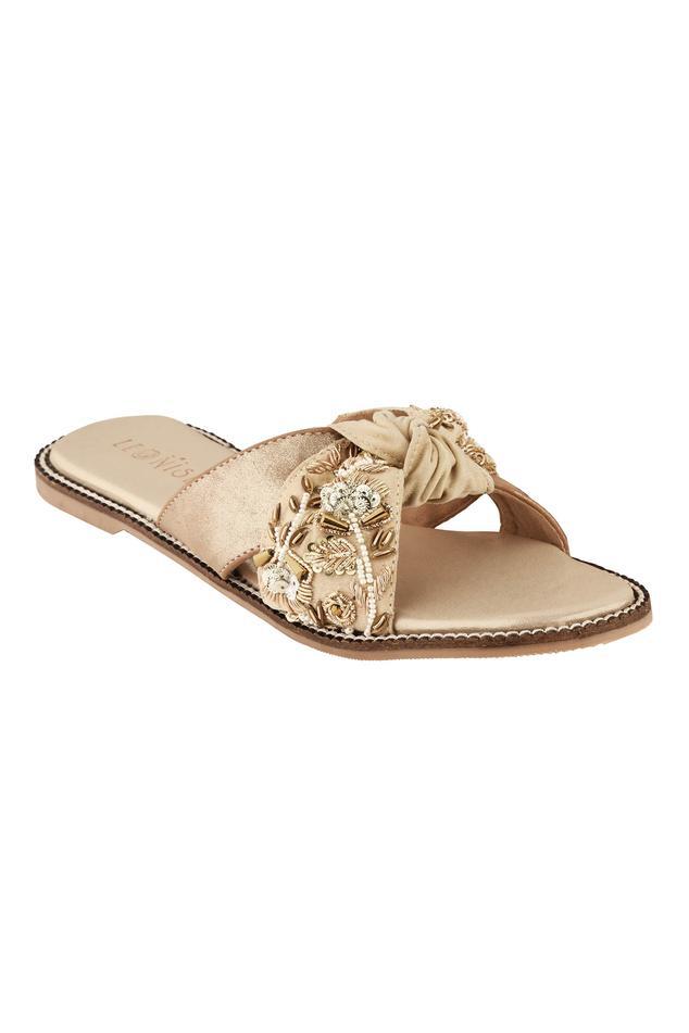 Floral Embellished Knotted Sandals