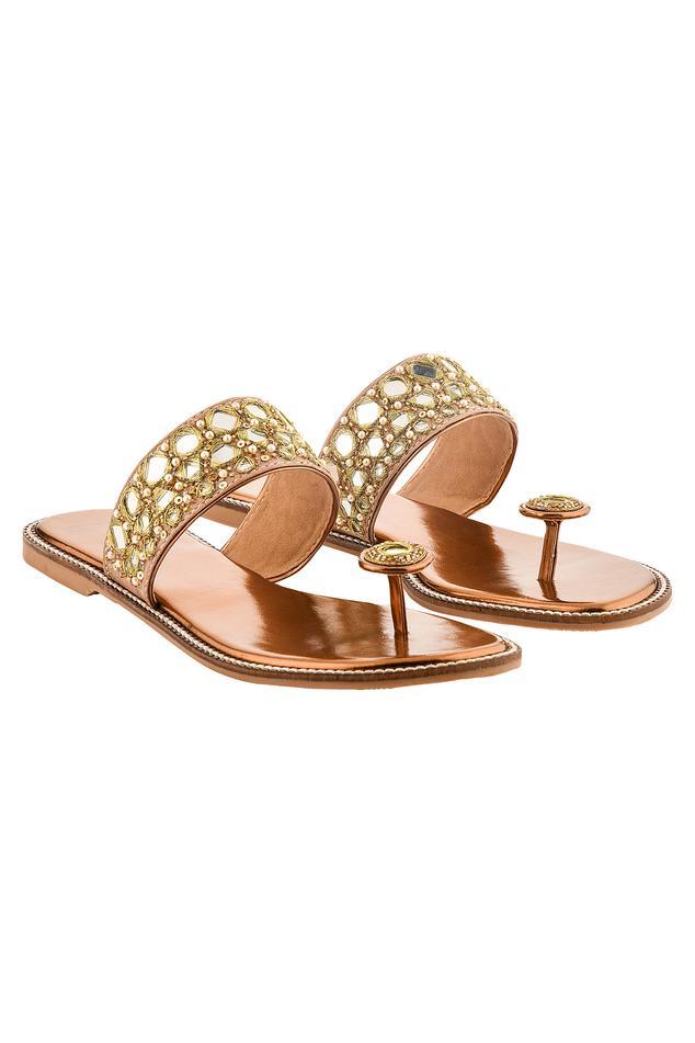 Mirror Embellished Sandals