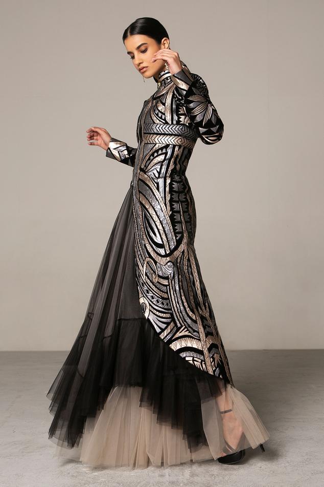 Metallic Velvet Jacket