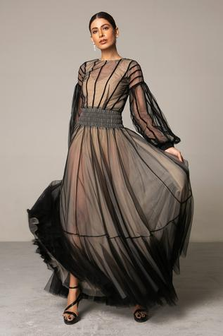 Tulle Layered Gown