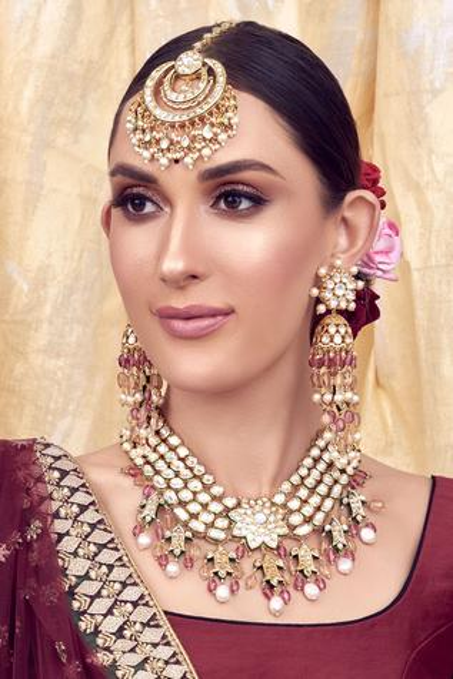 Varsha Polki Pendant Necklace Set