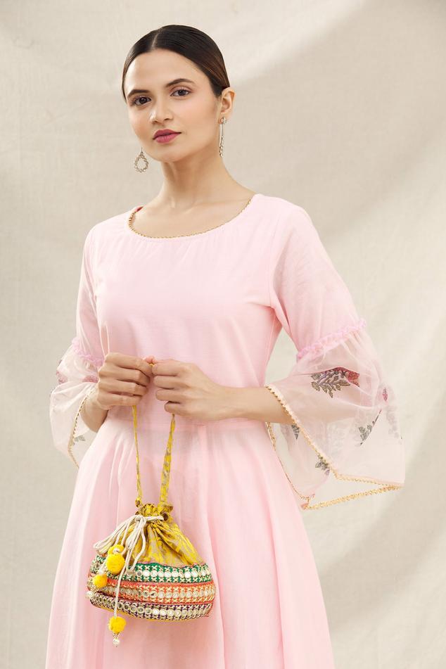 Banarasi Silk Potli Bag