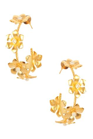 Fiona Floral Bead Hoops
