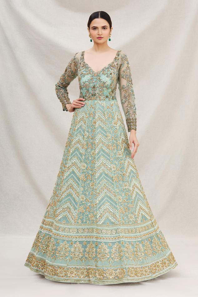 Lucknowi Anarkali Gown