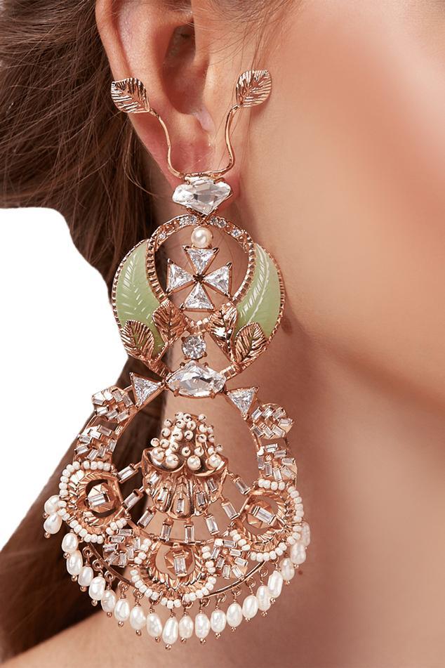 Jade Renaissance Crystal Chandbalis
