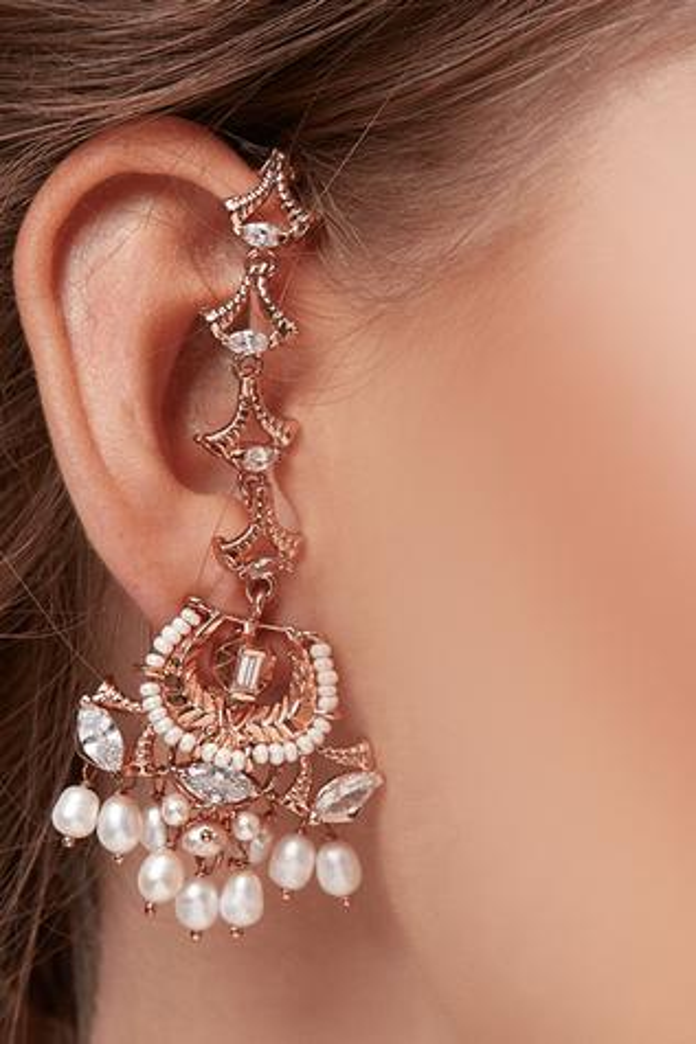 Ear Chain Beaded Liaison Danglers