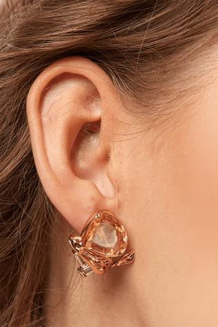 Amber Lune Crystal Studs
