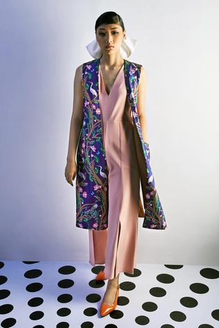 Jumpsuit with Printed Jacket