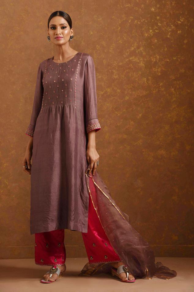 Handwoven Silk Kurta Set