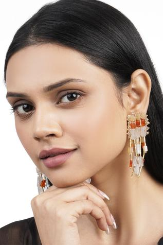 Bead Tassel Long Earrings