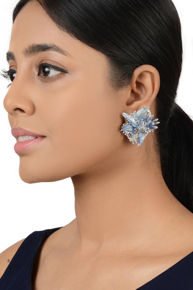 Bead Statement Stud Earrings