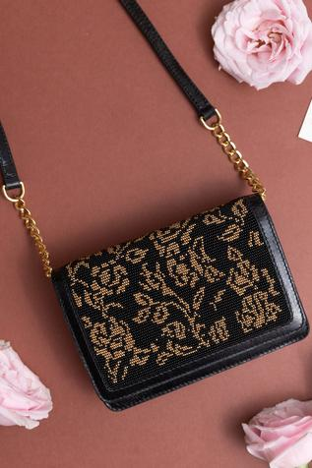 Gayatri Floral Flap Bag with Sling