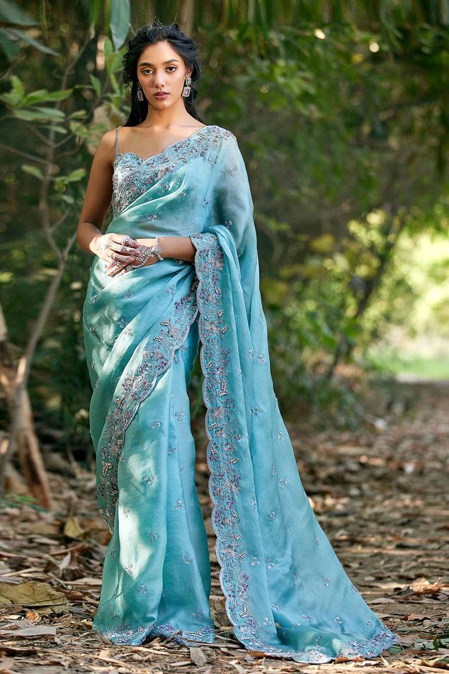 Silk Organza Saree Set