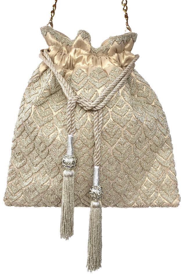 Bead Embellished Potli Bag