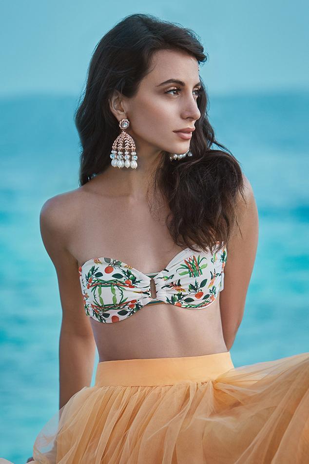 Isabella Crystal Jhumkas