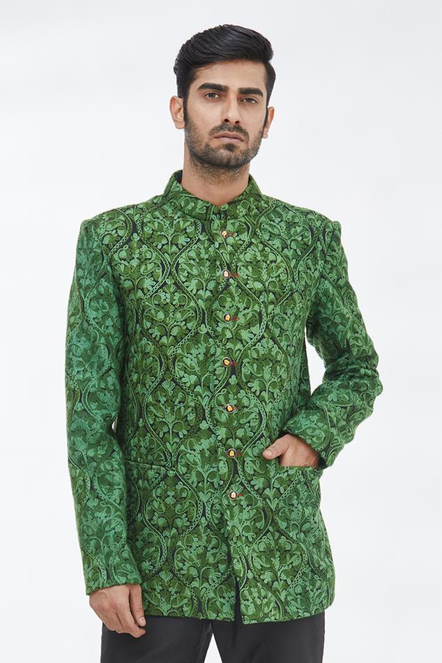 Silk Embroidered Bandhgala