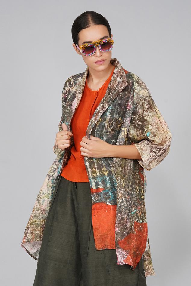 Linen Printed Jacket