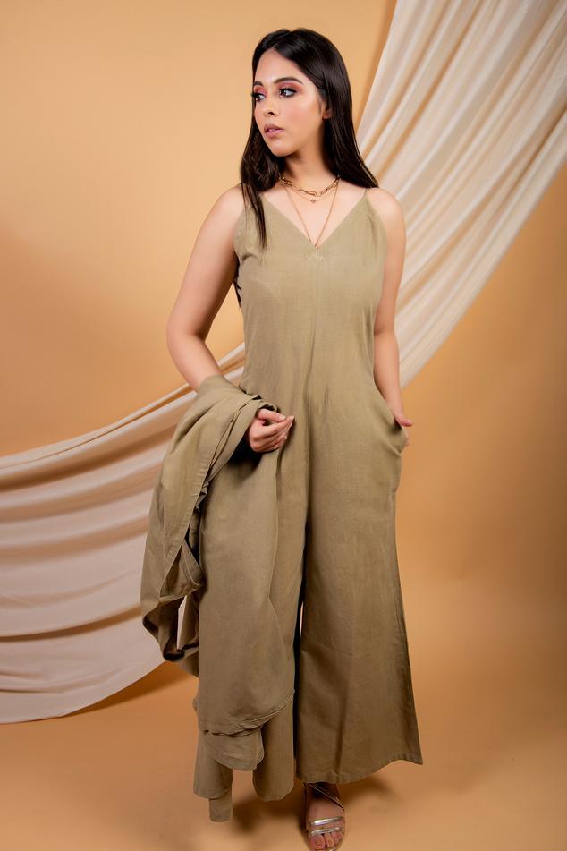 Cotton Linen Jumpsuit