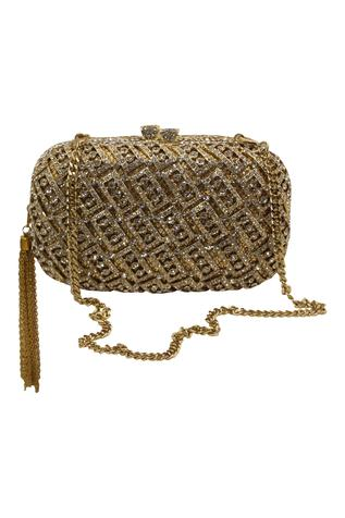Crystal Box Clutch with Sling