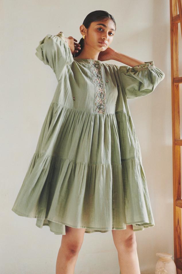 Cotton Tiered Dress