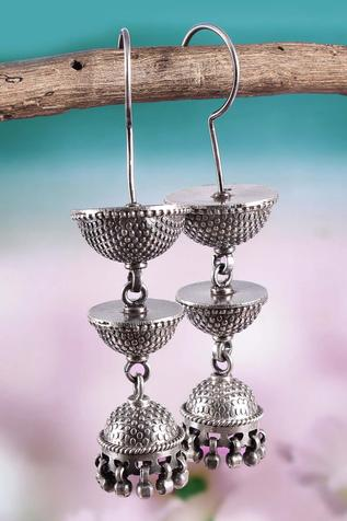 Handcrafted Tiered Temple Jhumkas